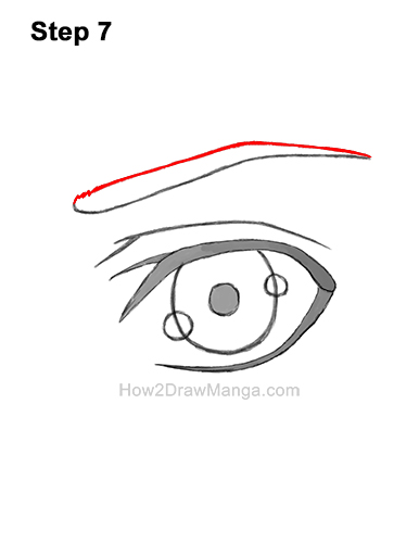 How to Draw a Manga Eye Boy Cartoon Chibi Kawaii 7