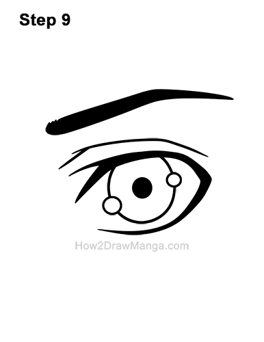 How to Draw a Manga Eye Boy Cartoon Chibi Kawaii 9