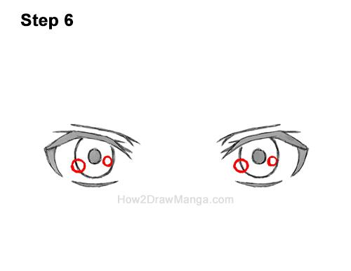 How to Draw Manga Both Eyes Boy Chibi Kawaii Cartoon 6