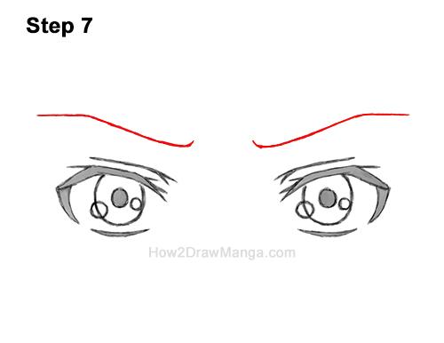 How to Draw Manga Both Eyes Boy Chibi Kawaii Cartoon 7