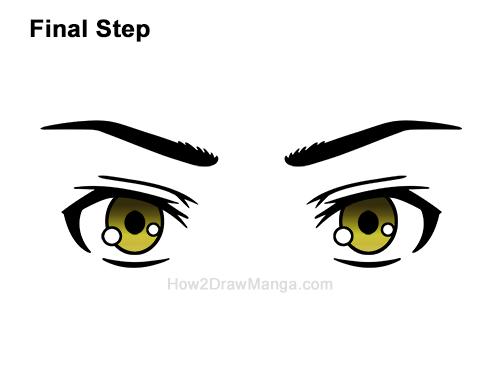 How to Draw Manga Both Eyes Boy Chibi Kawaii Cartoon