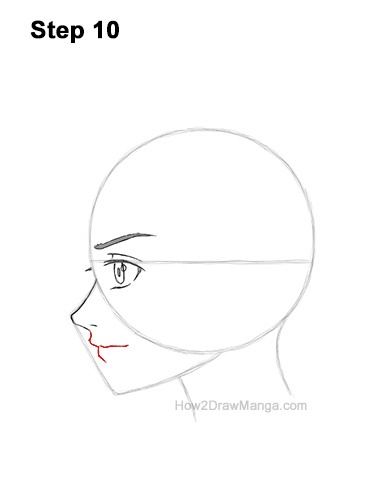 How to Draw Basic Manga Boy Head Face Side View Anime Chibi Kawaii 10