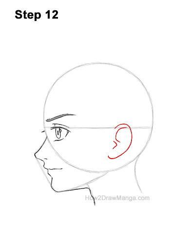 How to Draw Basic Manga Boy Head Face Side View Anime Chibi Kawaii 12