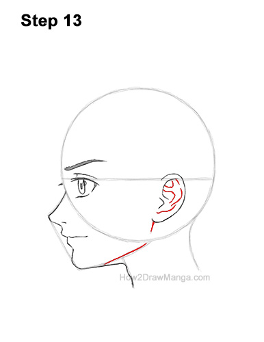 How to Draw Basic Manga Boy Head Face Side View Anime Chibi Kawaii 13