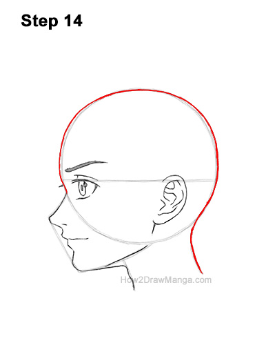 How to Draw Basic Manga Boy Head Face Side View Anime Chibi Kawaii 14