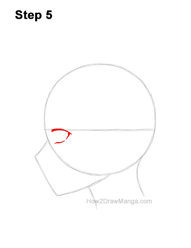 How to Draw Basic Manga Boy Head Face Side View Anime Chibi Kawaii 5