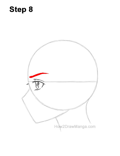 How to Draw Basic Manga Boy Head Face Side View Anime Chibi Kawaii 8