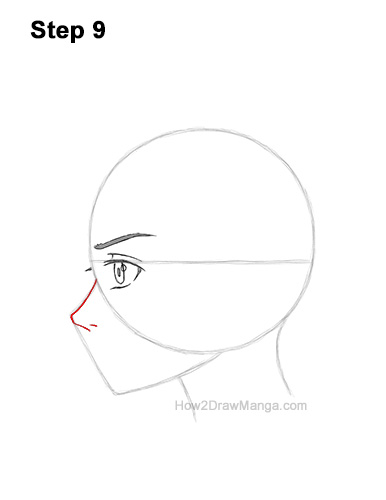 How to Draw Basic Manga Boy Head Face Side View Anime Chibi Kawaii 9