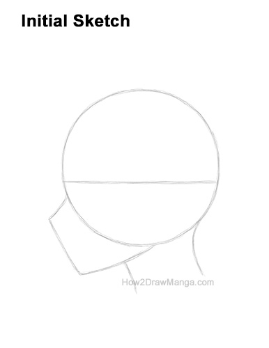 How to Draw Basic Manga Boy Head Face Side View Anime Chibi Kawaii Initial Sketch