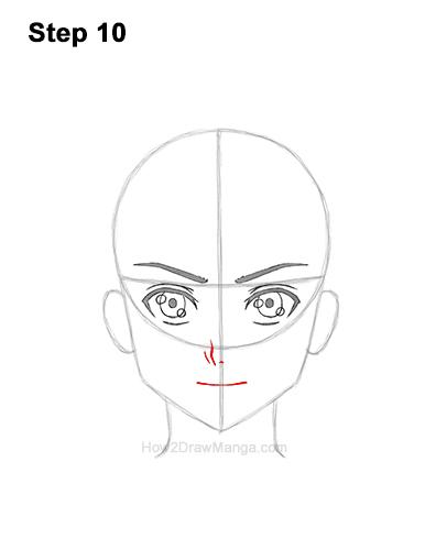 How to Draw Basic Manga Boy Head Front Face Anime Chibi Kawaii 10