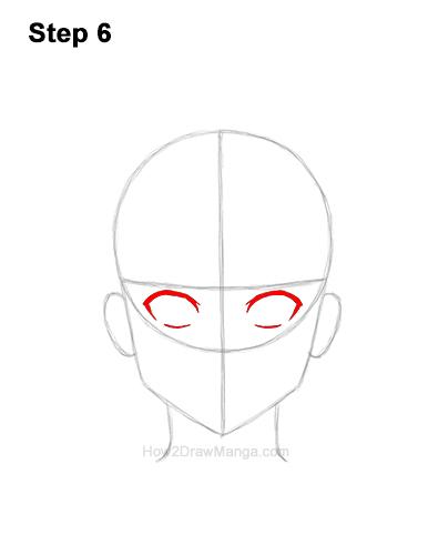How to Draw Basic Manga Boy Head Front Face Anime Chibi Kawaii 6