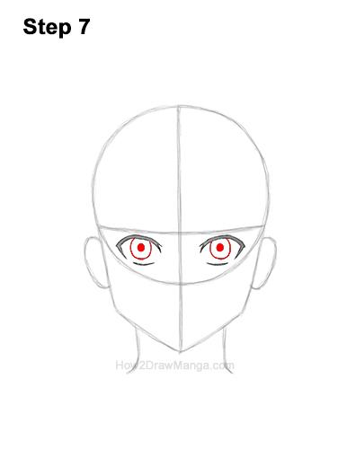 How to Draw Basic Manga Boy Head Front Face Anime Chibi Kawaii 7