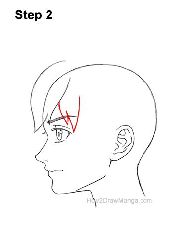 How to Draw Manga Boy Shaggy Hair Side View Anime Chibi Kawaii