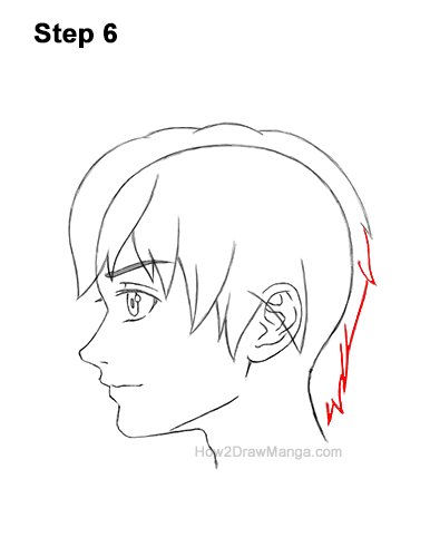 How to Draw Manga Boy Shaggy Hair Side View Anime Chibi Kawaii 6