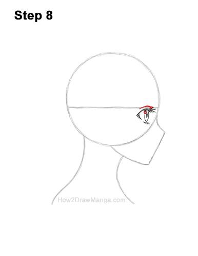 How to Draw Basic Manga Girl Head Face Side View Anime Chibi Kawaii 8