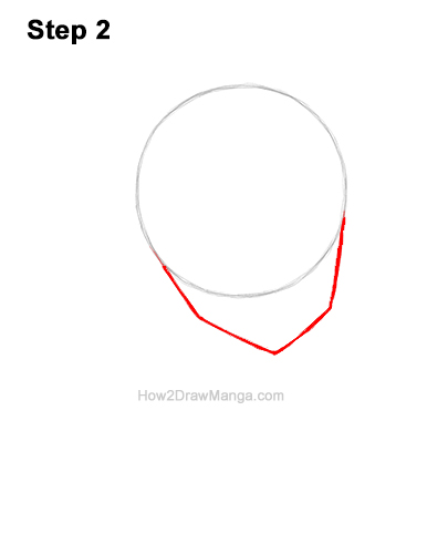How to Draw Basic Manga Girl Head Face Three Quarter 3/4 View Anime Chibi Kawaii 2