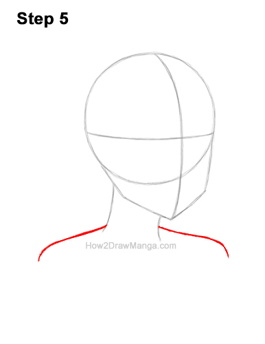 How to Draw Basic Manga Girl Head Face Three Quarter 3/4 View Anime Chibi Kawaii 5