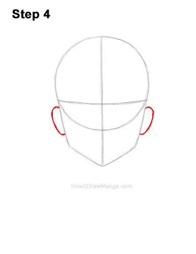 How to Draw Basic Manga Girl Head Front Face Anime 4