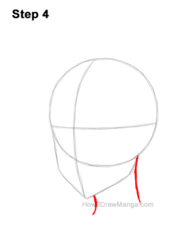 How to Draw Basic Manga Boy Head Face Three Quarter 3/4 View Anime Chibi Kawaii 4