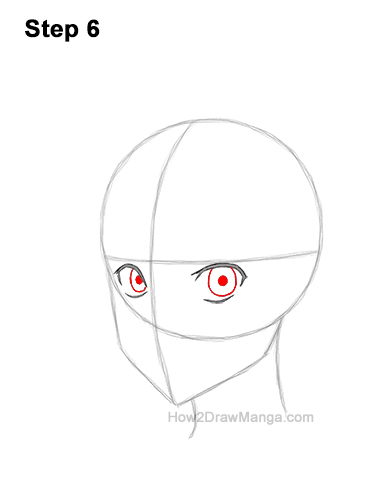 How to Draw Basic Manga Boy Head Face Three Quarter 3/4 View Anime Chibi Kawaii 6