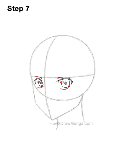 How to Draw Basic Manga Boy Head Face Three Quarter 3/4 View Anime Chibi Kawaii 7