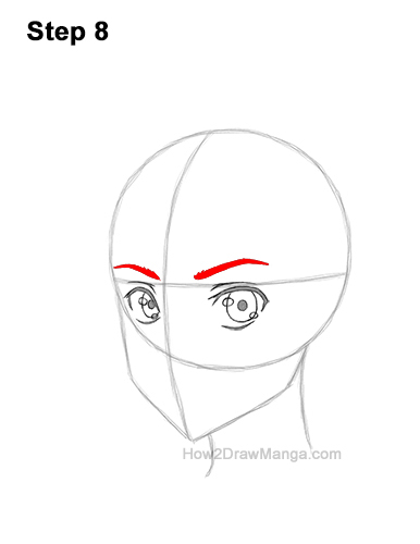 How to Draw Basic Manga Boy Head Face Three Quarter 3/4 View Anime Chibi Kawaii 8