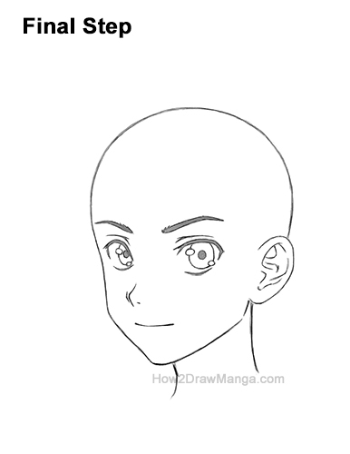 How to Draw Basic Manga Boy Head Face Three Quarter 3/4 View Anime Chibi Kawaii Last