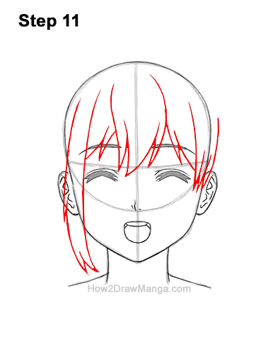 How to Draw a Manga Girl Happy Content Face Anime Chibi Kawaii 11