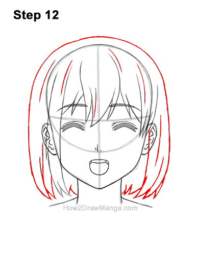 How to Draw a Manga Girl Happy Content Face Anime Chibi Kawaii 12