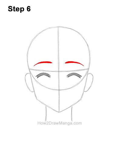 How to Draw a Manga Girl Happy Content Face Anime Chibi Kawaii 6