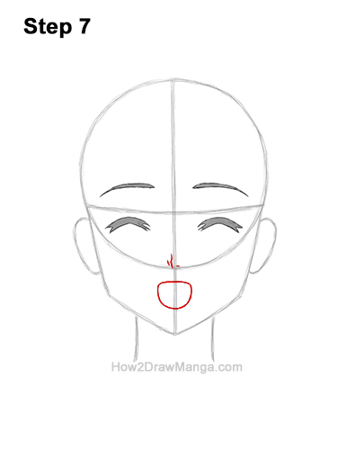 How to Draw a Manga Girl Happy Content Face Anime Chibi Kawaii 7