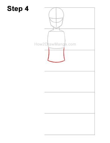 How to Draw a Basic Manga Girl Full Body Front Anime Chibi Kawaii 4