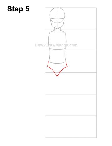 How to Draw a Basic Manga Girl Full Body Front Anime Chibi Kawaii 5