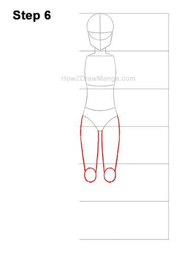 How to Draw a Basic Manga Girl Full Body Front Anime Chibi Kawaii 6