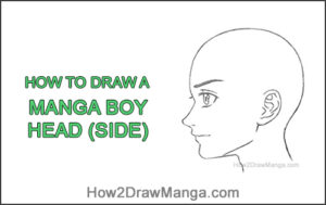 How to Draw Basic Manga Boy Head Face Side View Anime Chibi Kawaii