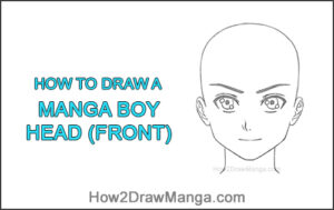 How to Draw Basic Manga Boy Head Front Face Anime Chibi Kawaii