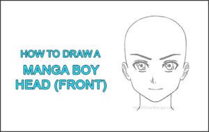 How to Draw Basic Manga Boy Head Front Face Anime Chibi Kawaii Thumbnail