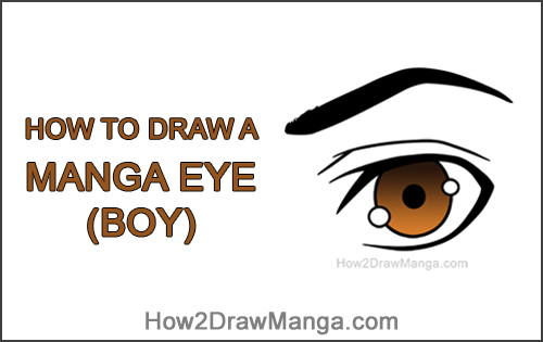 How to Draw Manga Single Eye Boy Brown