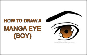 How to Draw a Manga Eye Boy Brown Cartoon Chibi Kawaii Thumb