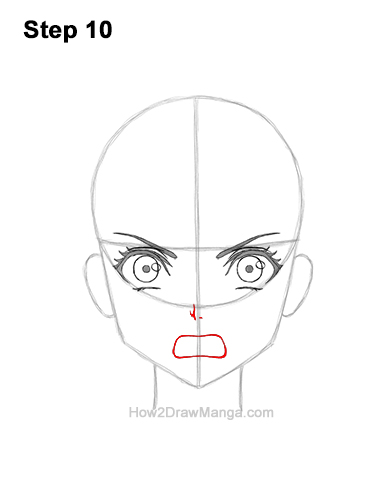 How to Draw a Manga Girl Angry Mad Face Anime Short Hair 10