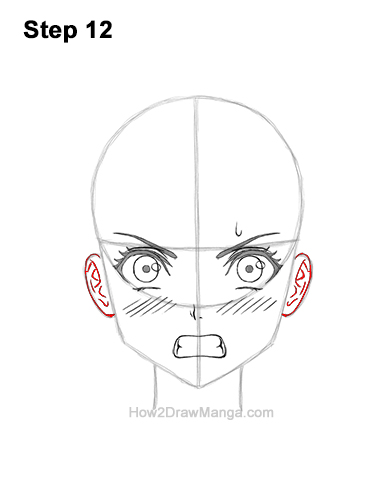 How to Draw a Manga Girl Angry Mad Face Anime Short Hair 12