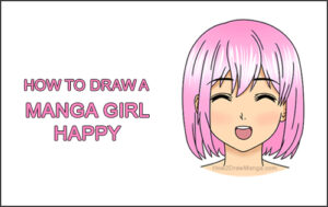 How to Draw a Manga Girl Happy Content Face Anime Chibi Kawaii Thumbnail