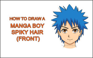 How to Draw Manga Boy Spiky Hair Front View Anime Chibi Kawaii Thumbnail