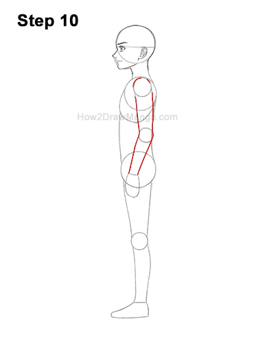 How to Draw a Basic Manga Boy Male Man Full Body Side View Anime 10