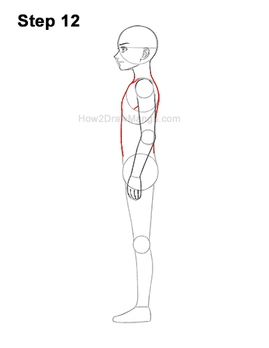How to Draw a Basic Manga Boy Male Man Full Body Side View Anime 12