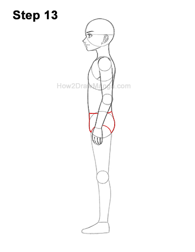 How to Draw a Basic Manga Boy Male Man Full Body Side View Anime 13