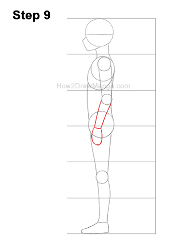 How to Draw a Basic Manga Boy Male Man Full Body Side View Anime 9