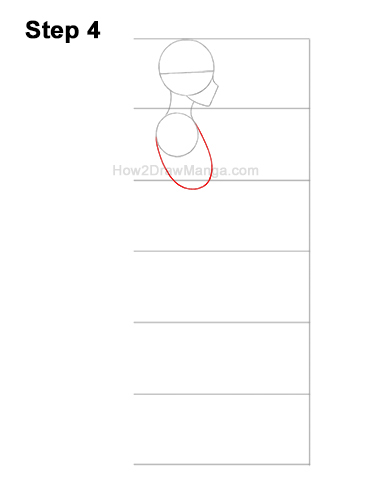 How to Draw a Basic Manga Girl Female Woman Full Body Side View Anime 4
