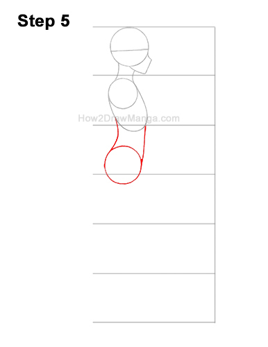 How to Draw a Basic Manga Girl Female Woman Full Body Side View Anime 5