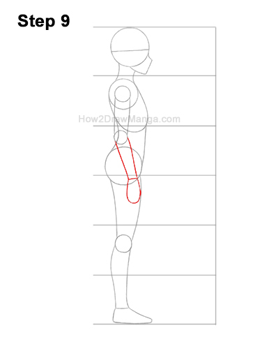 How to Draw a Basic Manga Girl Female Woman Full Body Side View Anime 9